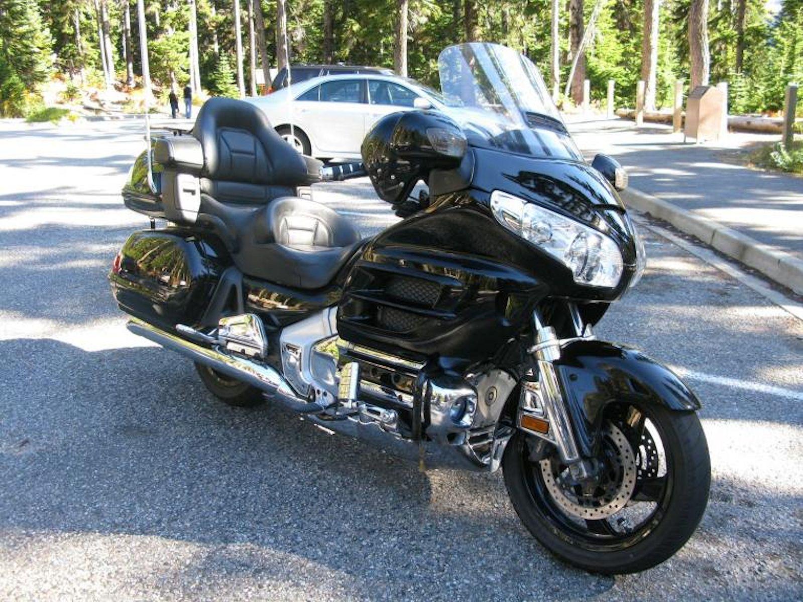Black Touring Motorcycle