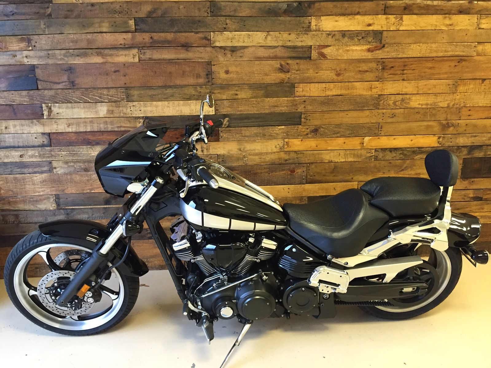 Cruiser Motorcycle Black and White